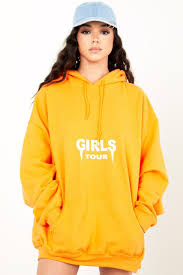og girls tour hoodie orange u2013 sosorella
