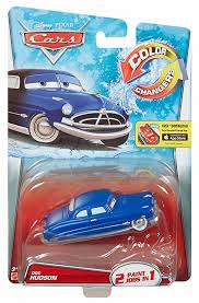 amazon com disney pixar cars color changer doc hudson blue to
