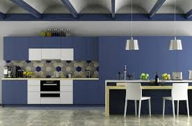 blue painted kitchen cabinet ideas 4 inspiring kitchen cabinet painting ideas for your home in
