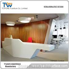 Front Reception Desk Designs Fancy Design Corian Acrylic Solid Surface Office Front Reception