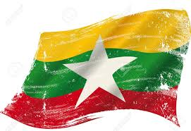 Flag Of Burma A Grunge Flag Of Myanmar Or Burma In The Wind Flag For You Royalty