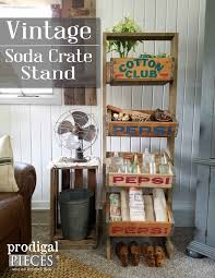 soda crate stand from vintage crates prodigal pieces
