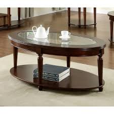 oval glass and wood coffee table confortable dark wood coffee table with glass top on home design