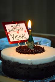 sweet u0027n u0027 savoury triple layer chocolate cake for vishal u0027s birthday