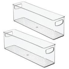 kitchen food storage pantry cabinet mdesign plastic kitchen food storage bin with handles 16 2 pack clear