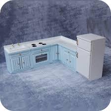 miniature dollhouse kitchen furniture free shipping wooden 1 12 miniature dollhouse kitchen furniture set