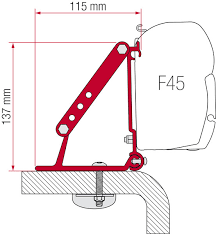 Awning Roof Mount Brackets Fiamma F45 Awning Roof Mount Brackets 2 Piece Set
