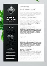 100 resume psd free creative resume design template graphic