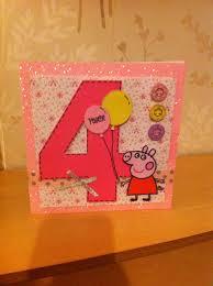 peppa pig card handmade birthday card ideas pinterest peppa