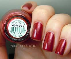 paint those piggies opi swatch spam color to diner for funky