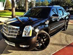 used cadillac escalade truck for sale sell used cadillac escalade ext blacked out with 26 inch wheels in