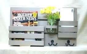 ikea magazine chalkboard mail holder kitchen with shelf magazine organizer wood