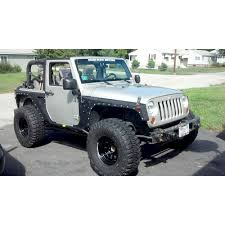 grey jeep wrangler 2 door smittybilt xrc armor fenders front rear set wrangler 2