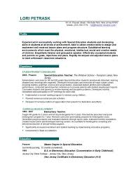 early childhood teacher resumes teaching resume examples
