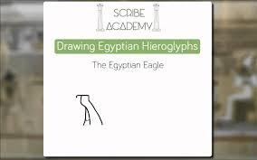 how to draw hieroglyphs the egyptian eagle youtube