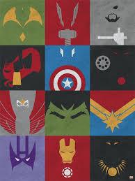 mdf avengers minimalist grid