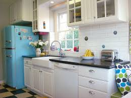 vintage glass front kitchen cabinets 1950s retro chill aqua kitchen eclectic kitchen los