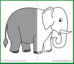 free drawing worksheets printable elephant drawing worksheets