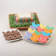 Easter Baskets Delivered Easter Cookie Baskets Gourmet Chocolates And Bunny Shaped Sugar