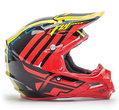 fly motocross helmet motocross helmet fly racing f2 red black yellow mx power eu
