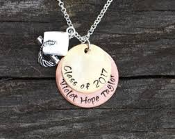 high school class necklaces senior necklace etsy