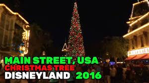 main street usa christmas tree lights during 2016 holiday season