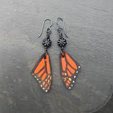 wing earrings monarch butterfly wing earrings disaster relief beadmask