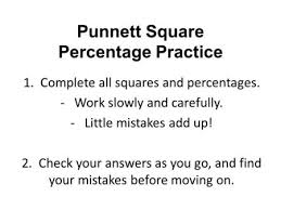 and how to use a punnett square to predict probable offspring
