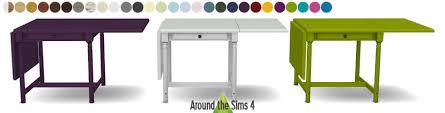 table cuisine pliante ikea around the sims 4 custom content ikea foldable chair