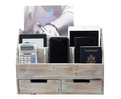 Rustic Wood Office Desk Vintage Rustic Wooden Office Desk Organizer Mail Rack For Desktop