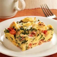 Egg Strata Casserole | florentine strata ready set eat