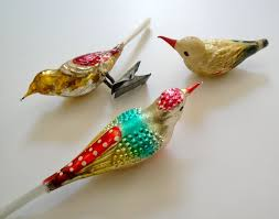 vintage mercury glass bird ornaments kitsch