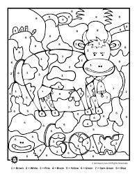 farm animals coloring page farm animal color by number printables color by number farm animal