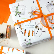 christmas wrapping paper sets christmas snowman wrapping paper set by clara and macy