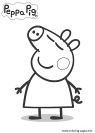 kids peppa pig coloring pages printable