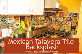 mexican tile kitchen backsplash eclectic mixed talavera tile backsplash