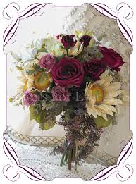 Burgundy Roses Felicia Flowers For Ever After U2013 Artificial Wedding Flower Designs