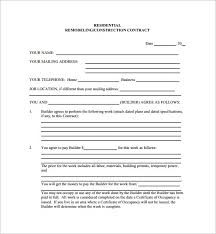 stunning construction contract template free ideas resume