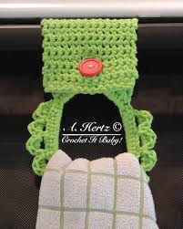 pattern crochet towel holder 13 quick kitchen crochet patterns
