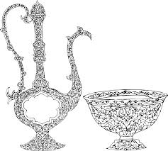 free stock photo of vintage ornamental vase and bowl vector