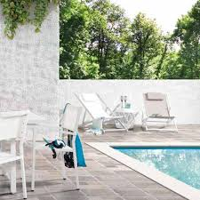 Textilene Patio Furniture by Set Of Four Aluminium And Textilene Outdoor Beach Chairs Grace