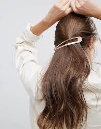 snap hair asos asos oversize gold snap hair clip