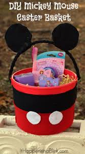 mickey mouse easter baskets mickey mouse easter basket crafty activities