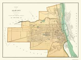Map Of Albany New York by Old City Map Albany New York Andrews 1895