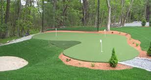 Artificial Backyard Putting Green by Landscaping Plans Artificial Putting Green Cost Inspiring