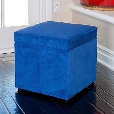 attractive blue storage ottoman blue storage ottoman with tray