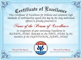 excellence certificate template 28 images certificate of