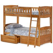 solid wood bunk beds and loft beds night and day cinnamon twin over twin bunk bed in oak