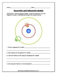 solar system geocentric and heliocentric model diagrams to label