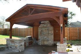 exterior rustic outdoor kitchen patio design ideas gallery